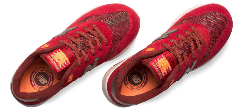 Red New Balance 580 Elite Edition Lost Worlds