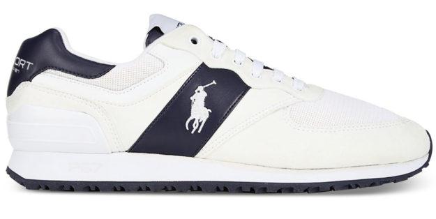 White Slaton Tech Pony Sneaker By Ralph Lauren ...