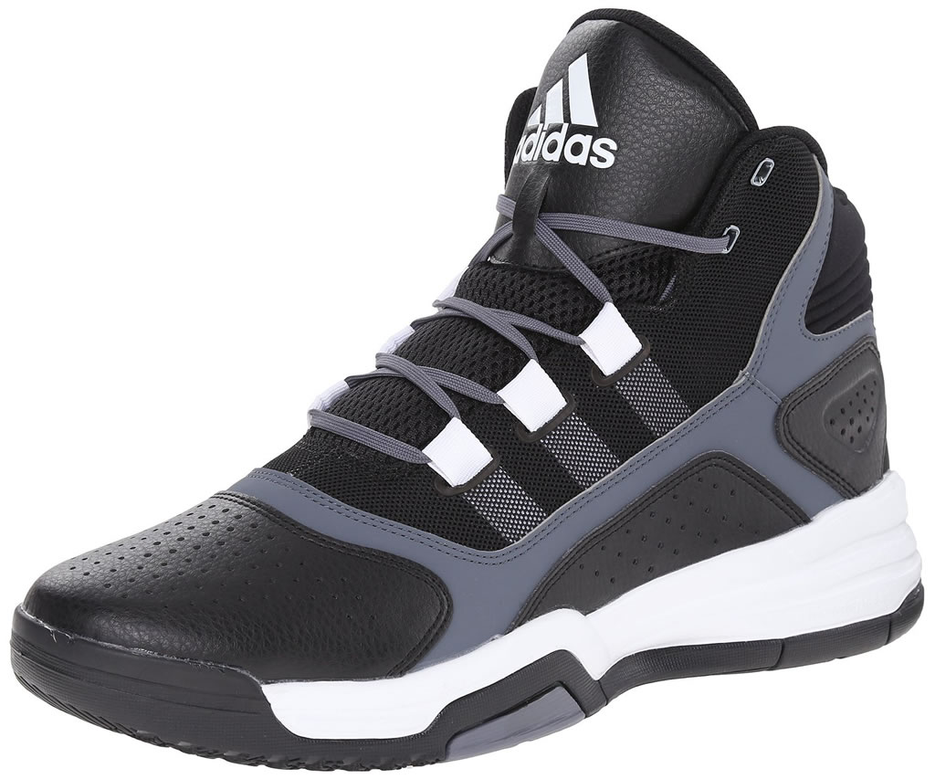 Adidas Black Synthetic Leather Shoes