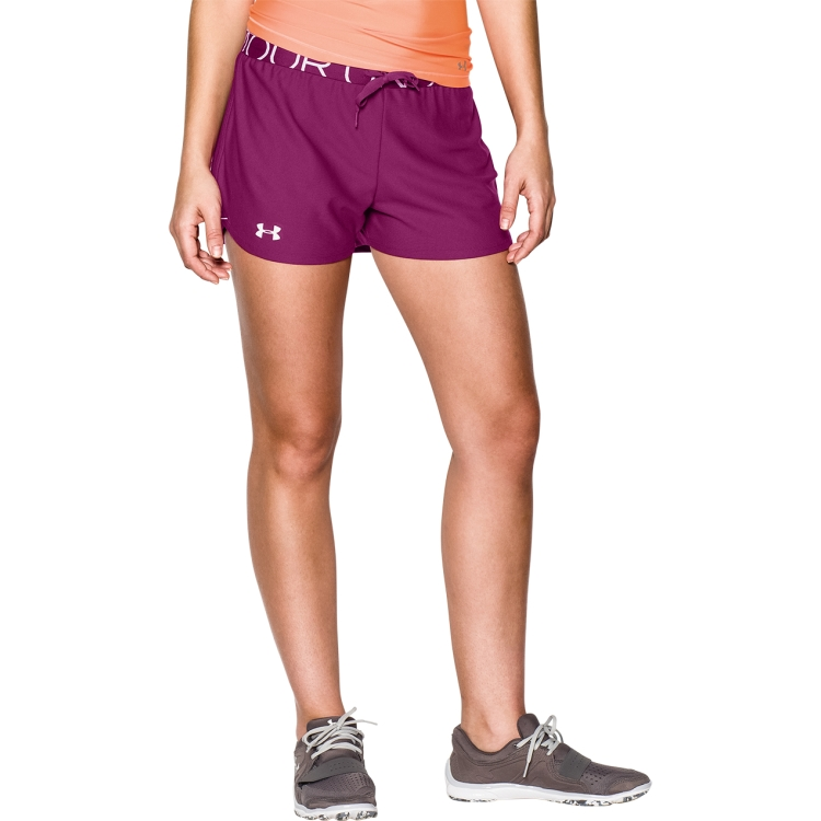 ... Aubergine Women's Play Up Shorts By Under Armour ...