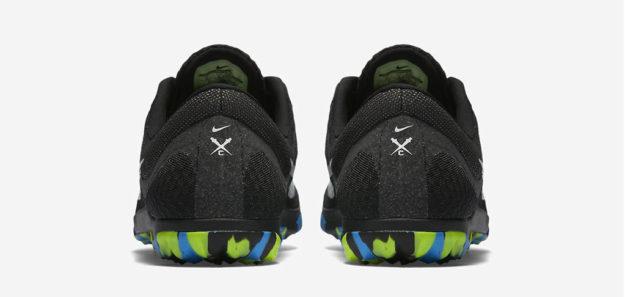 Black Nike Zoom Rival Waffle XC Track Shoe, Heel Tab