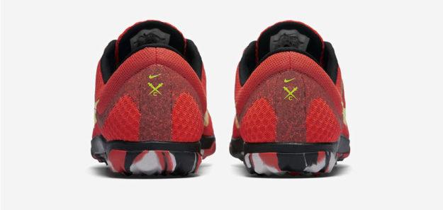 Crimson Nike Zoom Rival Waffle XC Track Shoe, Heel Tab