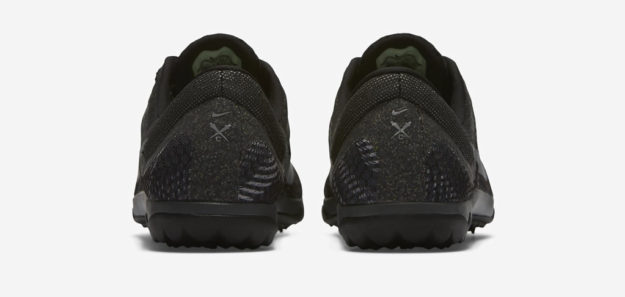 Grey Nike Zoom Rival Waffle XC Track Shoe, Heel Tab