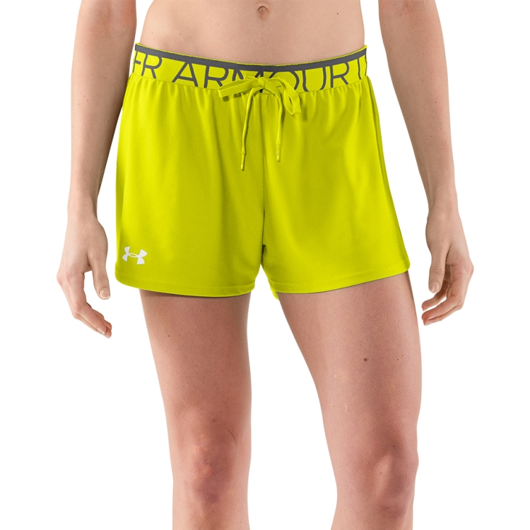 High Vis Yellow Women's Play Up Shorts By Under Armour