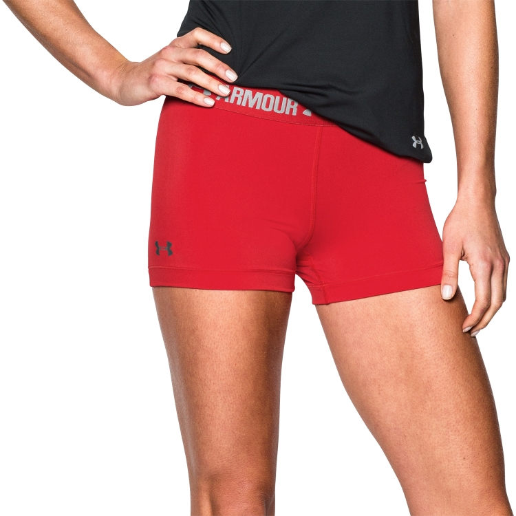 Red Women's Compression Shorts By Under Armour