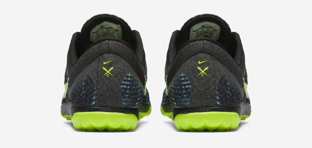 Rio Teal Nike Zoom Rival Waffle XC Track Shoe, Heel Tab