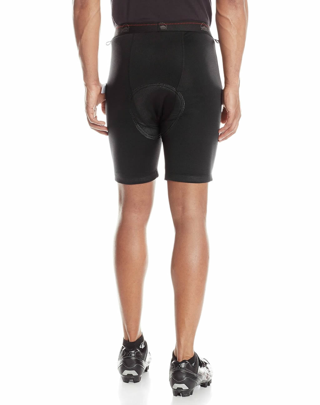 Black ZOICEther Cycling Shorts for men, Back