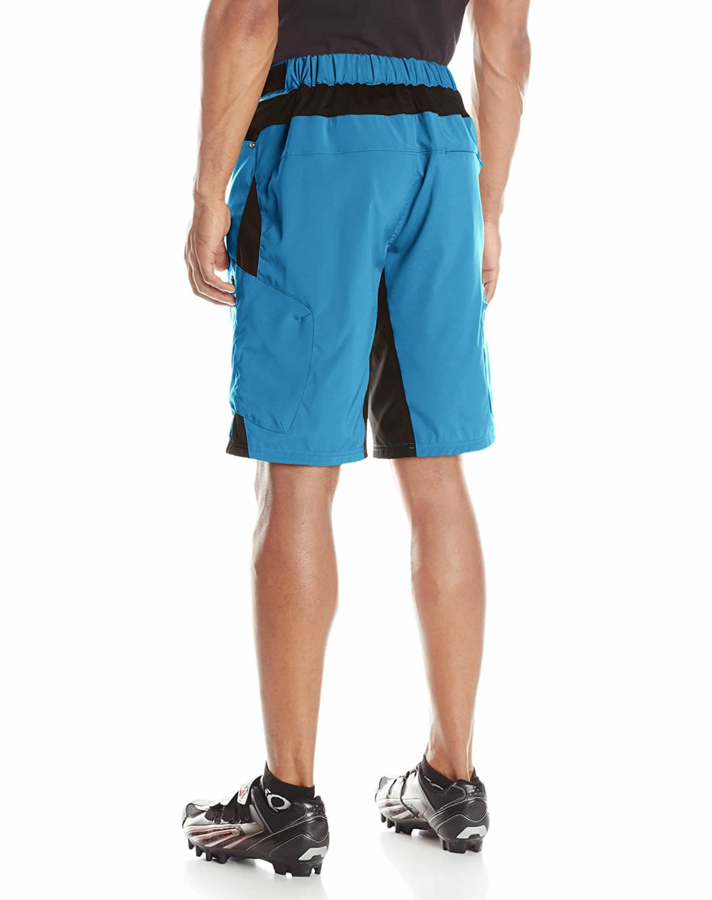 Blue ZOIC Men's Ether Cycling Shorts, Back