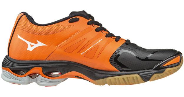mizuno volleyball shoes orange and black women's