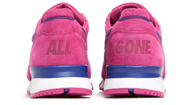 Pink N9000 Sneakers by Diadora x La MJC, Heel Tab