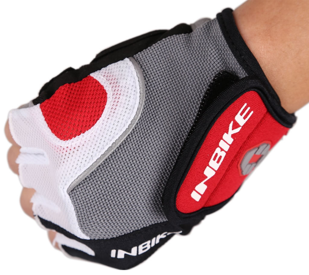 Red 5mm Gel Pad Cycling Gloves