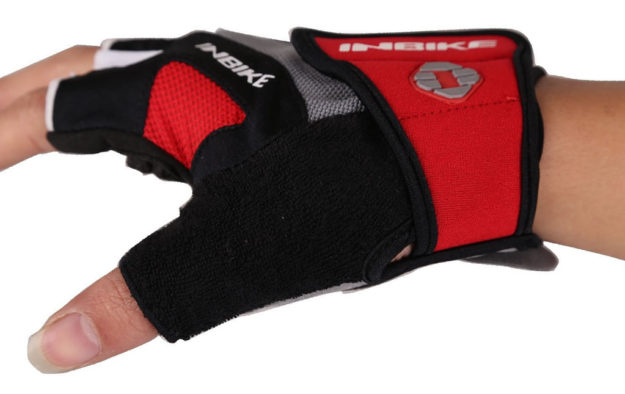 Red Gel Pad Cycling Gloves