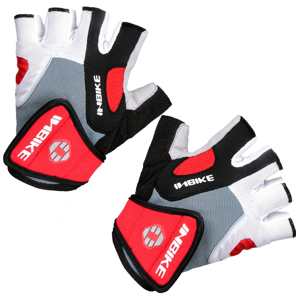 Red Gel Pad Cycling Gloves By Inbike