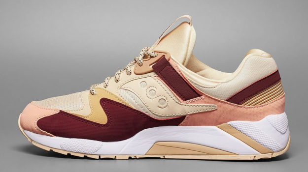 Red Grid 9000 By Saucony, Side