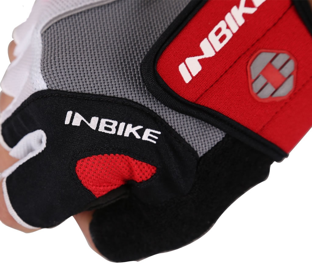 Red Inbike 5mm Gel Pad Cycling Gloves