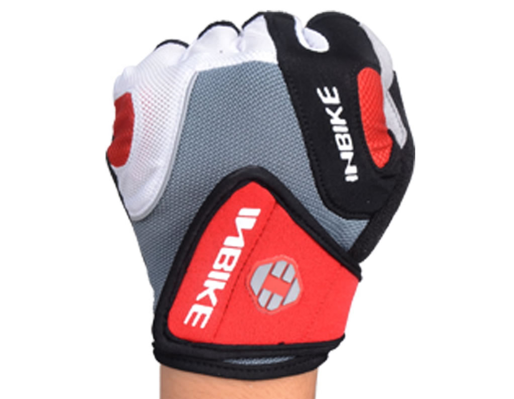 Red Inbike Gel Pad Cycling Gloves
