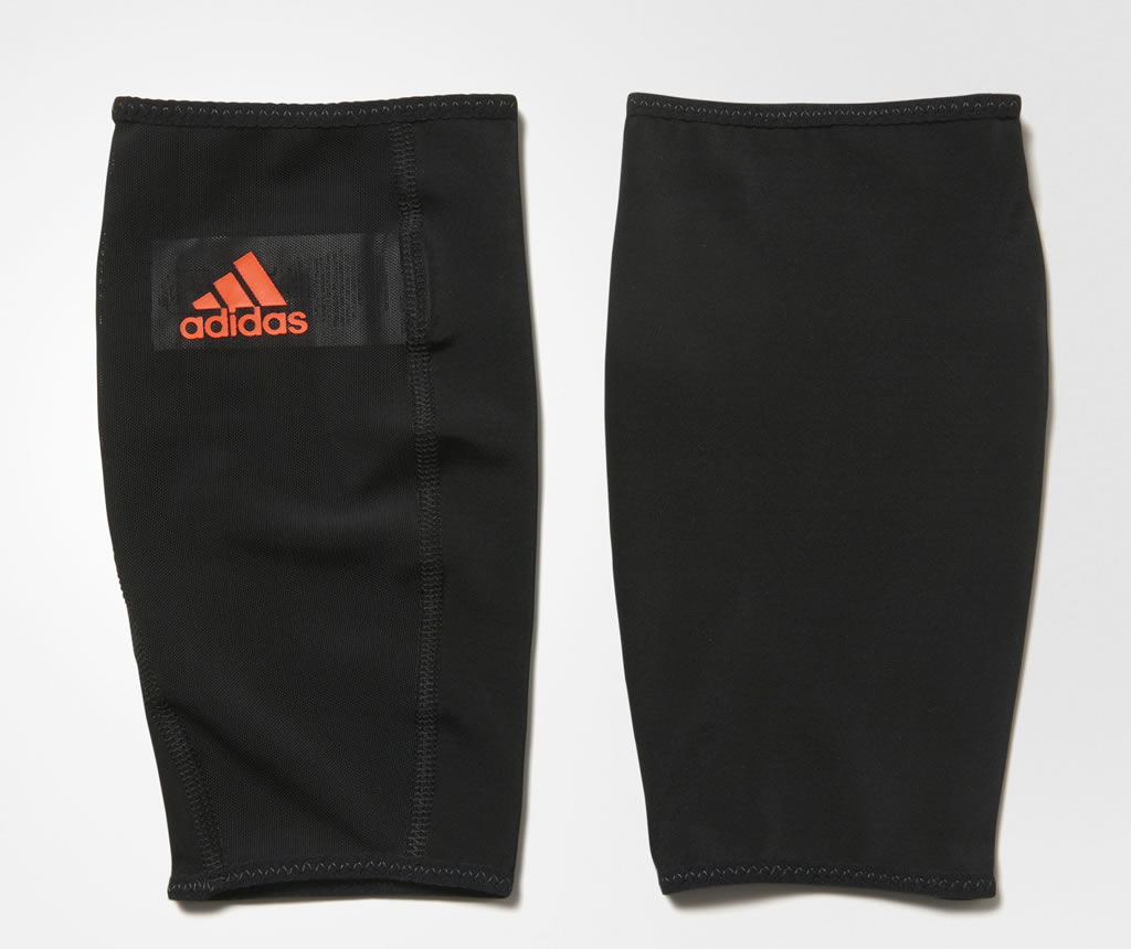 Red Men's Soccer Shin Guards by Adidas
