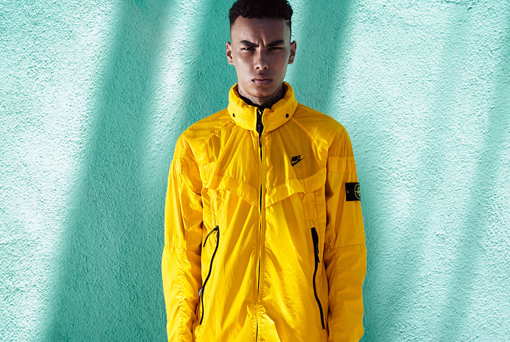 Yellow Windrunner Jacket by NikeLab