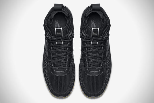 All Black Nike Lunar Force 1 Duckboot