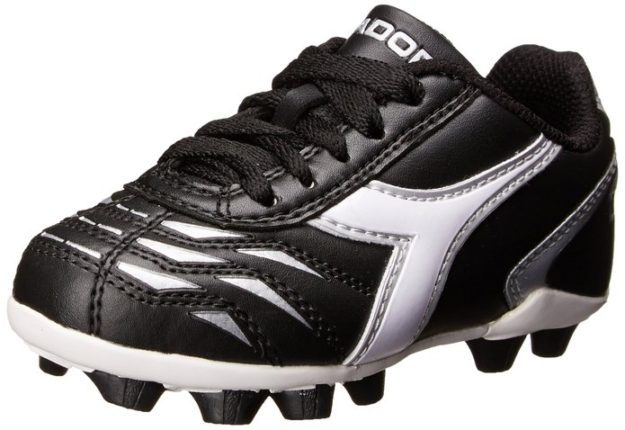 Black Diadora Kids Capitano MD Jr Soccer Shoes