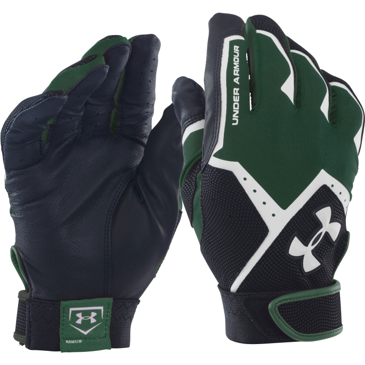 Green Adult Clean-Up VI Batting Gloves By Under Armour