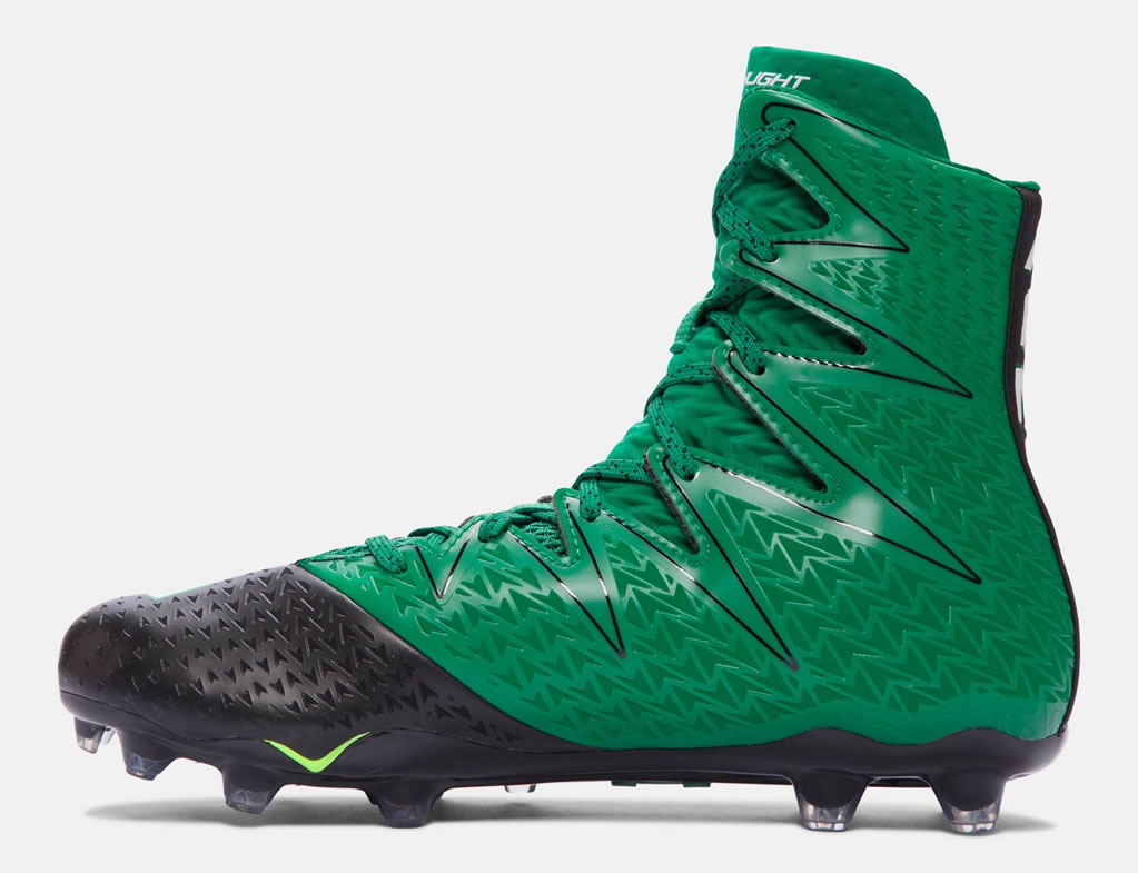 Green men s football cleats by Under Armour ... 144a26808661