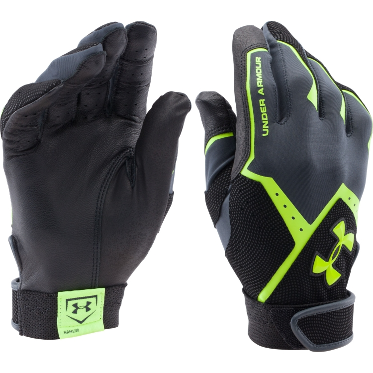 Neon Yellow Adult Clean-Up VI Batting Gloves By Under Armour