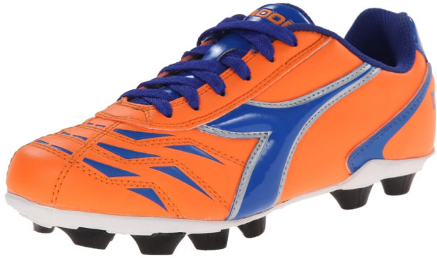 Orange Diadora Kids Capitano MD Jr Soccer Shoes