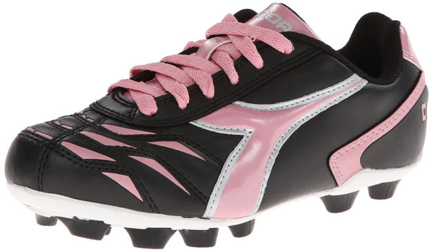 Pink Diadora Kids Capitano MD Jr Soccer Shoes