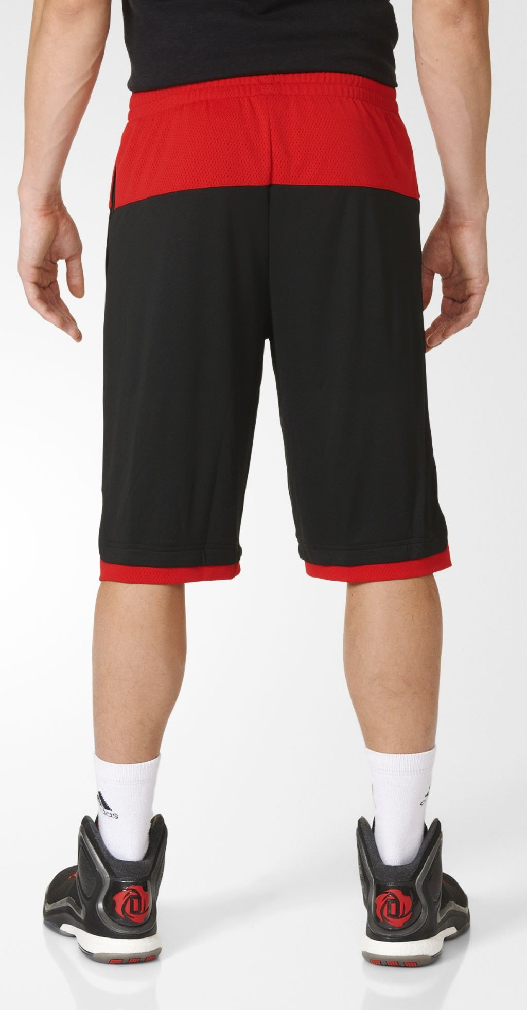 Red 365 Speed Basketball Shorts By Adidas, Back