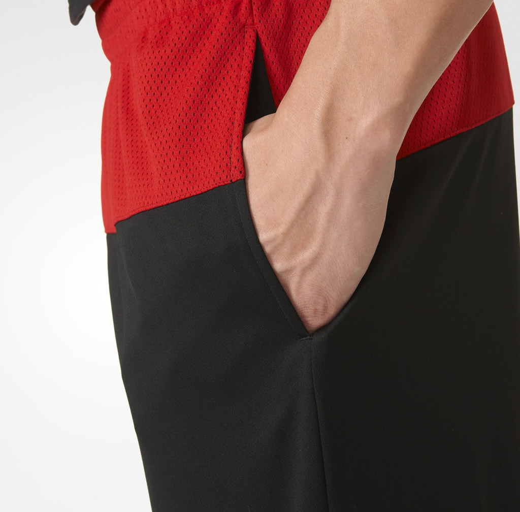 Red 365 Speed Basketball Shorts By Adidas, Pocket
