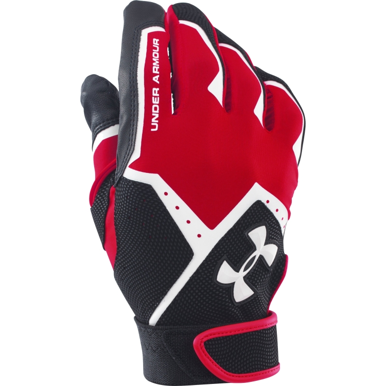 Red Adult Clean-Up VI Batting Gloves By UA