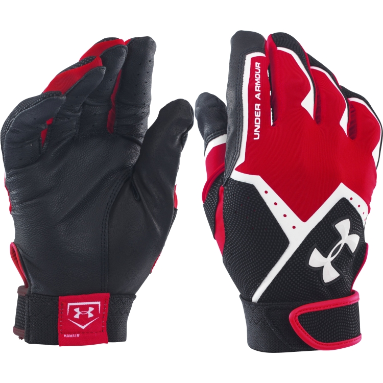 Red Adult Clean-Up VI Batting Gloves By Under Armour