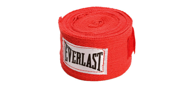 Red Boxing Hand Wraps By Everlast