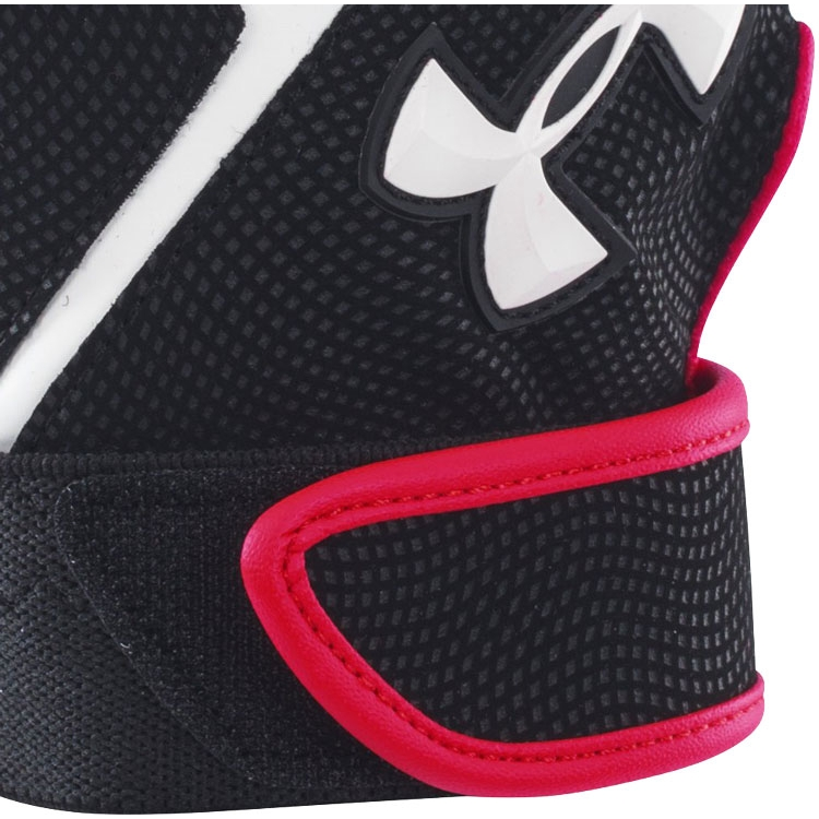 Red Under Armour Adult Batting Gloves