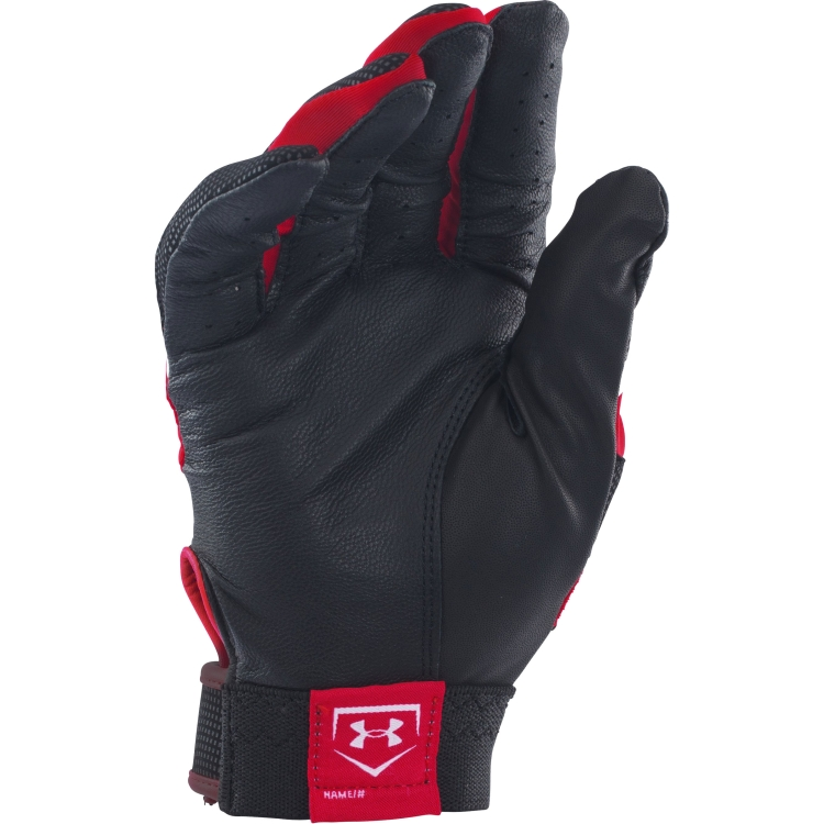 Red Under Armour Adult Clean-Up VI Batting Gloves