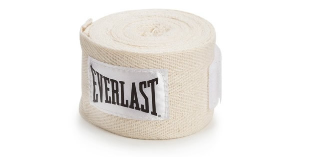 White Boxing Hand Wraps By Everlast