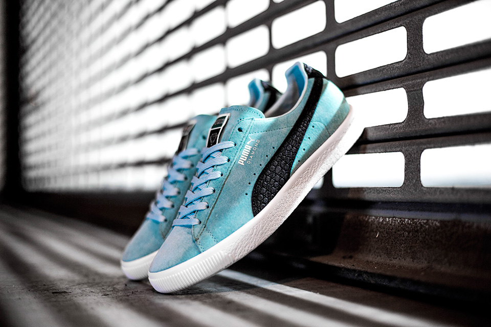 Aruba Blue Clyde Sneakers by Diamond Supply Co. x PUMA