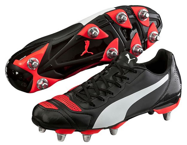 Black Evopower 4.2 H8 Rugby Boots By PUMA