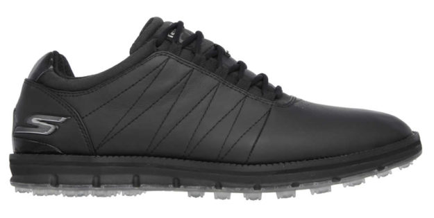 Black GO GOLF Elite Shoes For Men by Skechers , Side