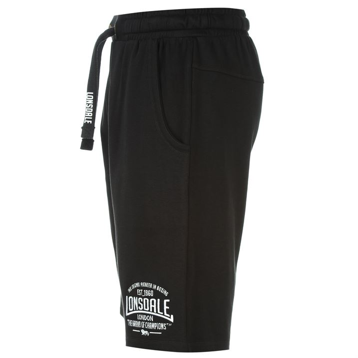 Black Men's Box Lightweight Shorts By Lonsdale