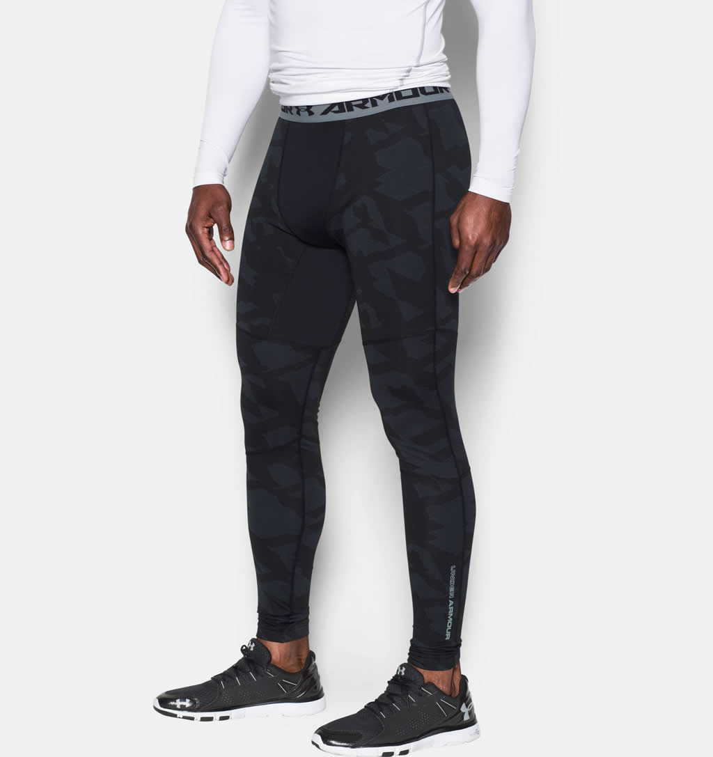 Black UA ColdGear Armour Jacquard Compression
