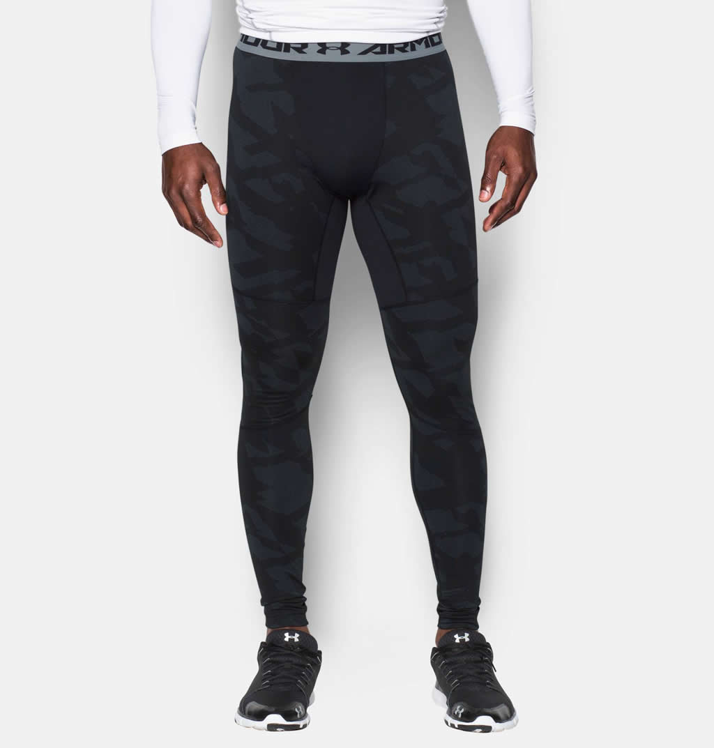 Black Under Armour soccer compression pants