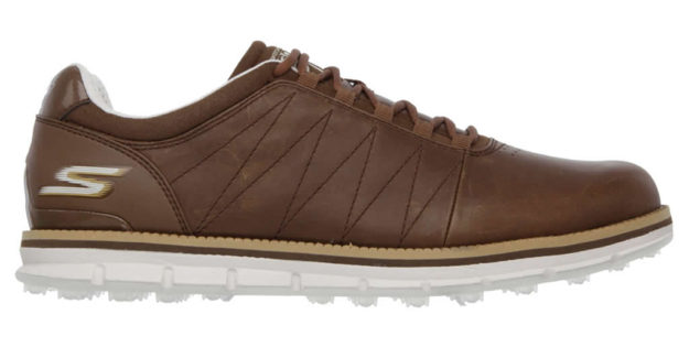 Brown GO GOLF Elite Shoes For Men by Skechers , Side