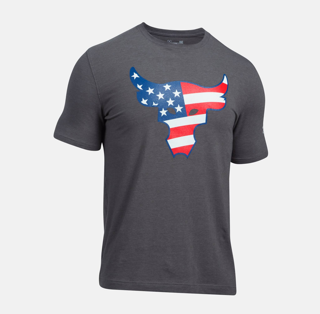 Carbon UA Freedom Rock The Troops T-shirt
