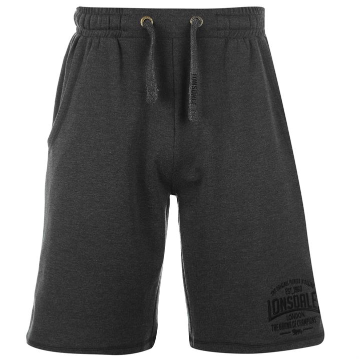 Charcoal Box Lightweight Shorts For Men By Lonsdale, Back