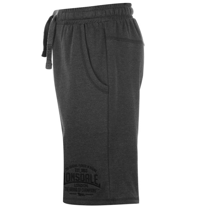 Charcoal Men's Box Lightweight Shorts By Lonsdale