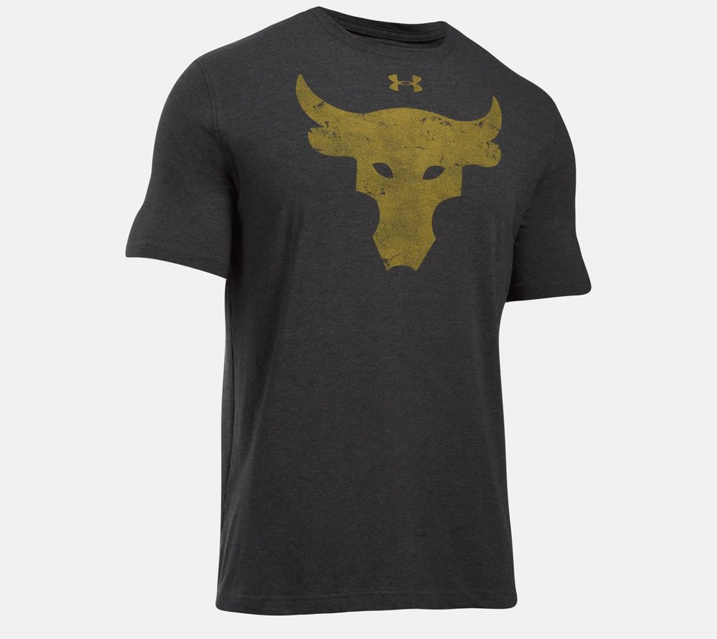 Gold Brahma Bull T-Shirt by Under Armour x Project Rock
