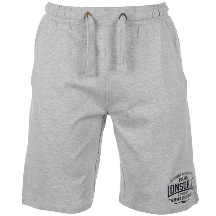 Grey Box Lightweight Shorts For Men By Lonsdale