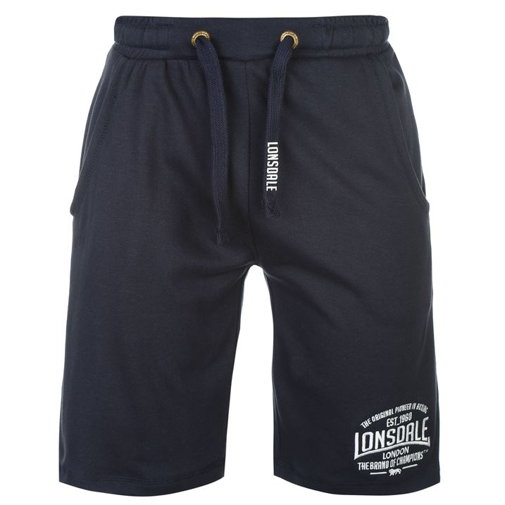 Navy Box Lightweight Shorts For Men By Lonsdale, Back
